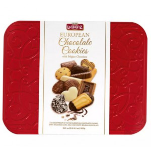Caja de Galletas Europeas Bañadas en Chocolate Lambertz Red Tin