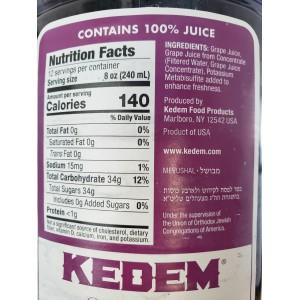 Jugo de Uva Kedem 100% Pure Grape Juice