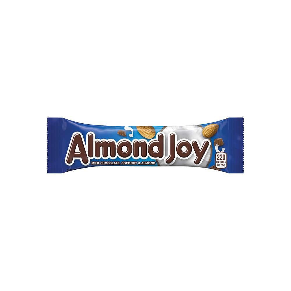 Barrita de chocolate relleno con coco y almendras Almond Joy
