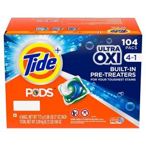Detergente en Cápsulas Tide con Ultra Oxi 104 uni