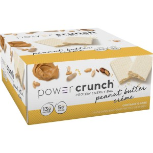 Barritas de Proteínas con Crema de Mantequilla de Maní Power Crunch
