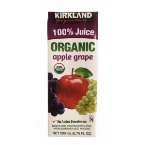 Jugo de manzana y uva 100 % orgánico Kirkland