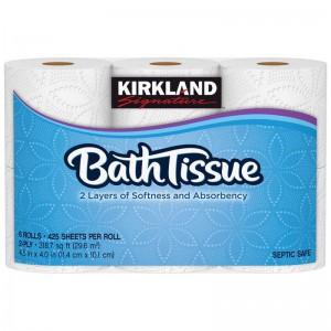 Pack de Seis Papeles higiénicos Kirkland Signature