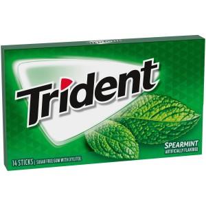 Chicles sin azúcar sabor menta Trident