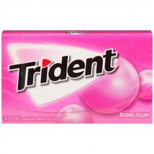Chicle sin azúcar Bubblegum Trident