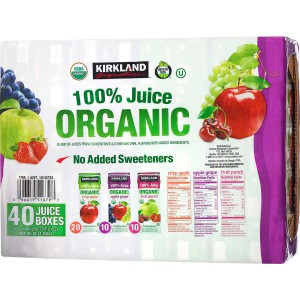Caja de jugos 100% orgánicos Kirkland Signature