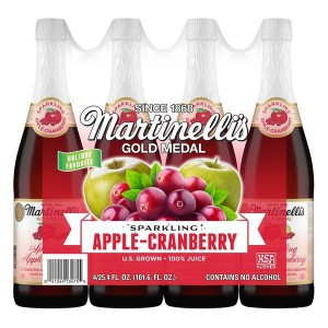 Martinelli's Sparkling Apple-Cranberry 100% Juice, 750ml*4