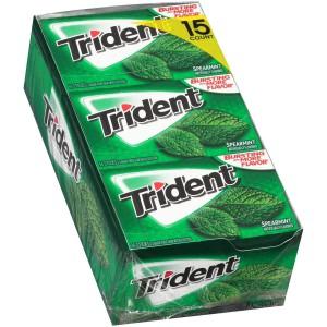 Caja de chicles de menta sin azúcar Trident