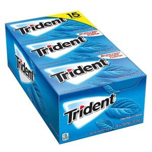 Caja de Chicles sin Azúcar Trident Original