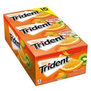 Caja de Chicles sin Azúcar Sabor Tropical Twist Trident