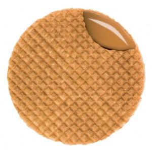 Waffles Tostados rellenos con Caramelo Le Chic Patissier Original Stroopwafels