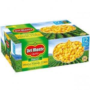 Maiz de grano entero Del Monte, 432gr, 12 ct
