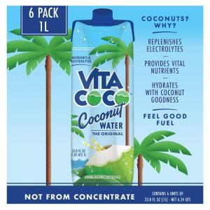 Agua de Coco Pura Vita Coco 6 Un x 1 Litro