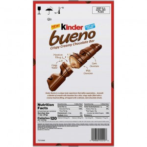 Pack Barra de Chocolate Kinder Bueno, 20 uni
