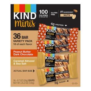 Kind Mini Barras Paquete Variado, 36 Barras