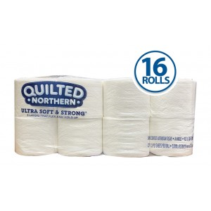 Quilted Northern Ultra Soft & Strong Toilet Paper (16 rolls, 271 sheets/roll)
