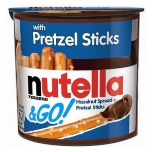 Palitos de Pretzels con Nutella
