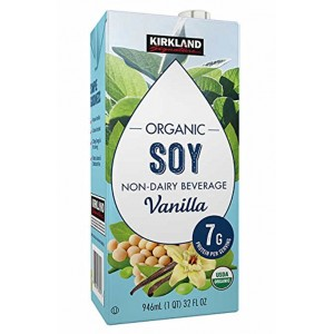 Bebida de Soya Kirkland Sabor Vainilla Caja 12 uni