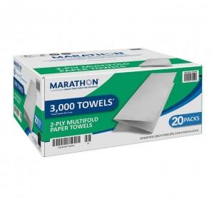 Toallas de Papel Dobladas Marathon 3000 uni.