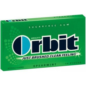 Orbit Sugar Free Gum, Spearmint, 14 Sticks