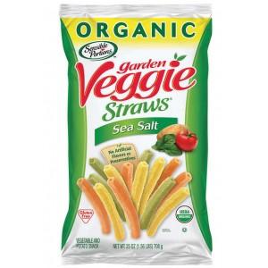Snack Orgánico Veggie Straws con Sal de Mar