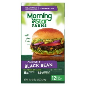Hamburguesa Porotos Negros Chipotle Morning Star Farms