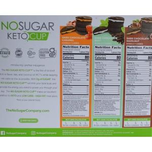 Chocolates Negros Keto Cup No Sugar Surtidos