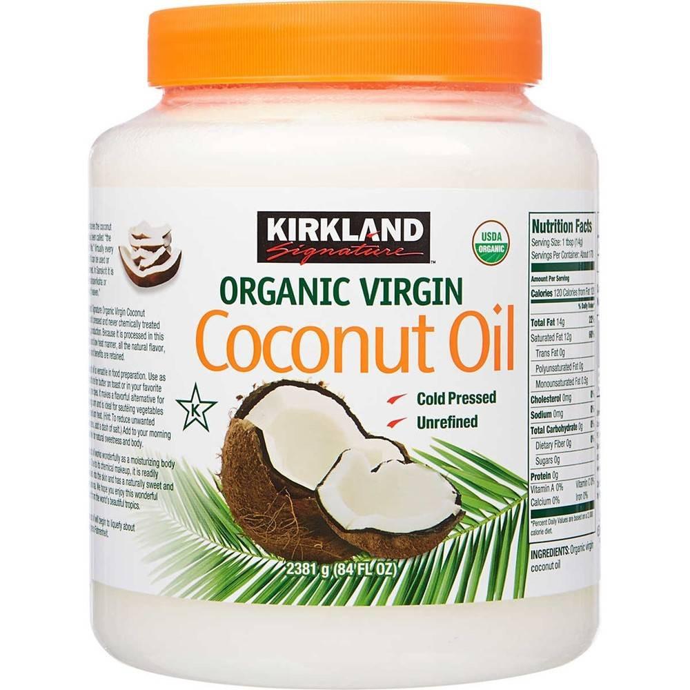 Aceite de Coco Orgánico, Kirkland Signature 2.48 Lt