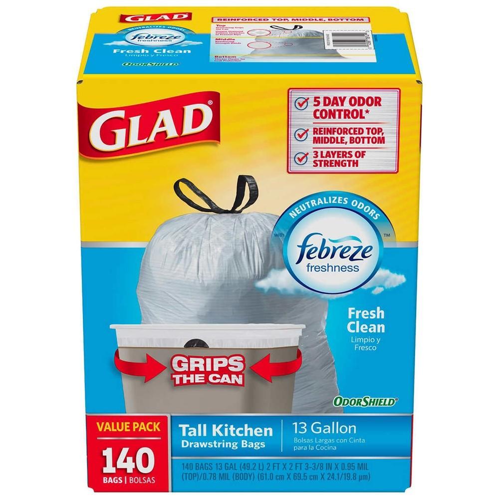 Bolsas de basura aromatizadas Glad 140 Unid.