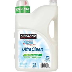 Detergente Kirkland Ultra Clean, Free & Clear, 126 un