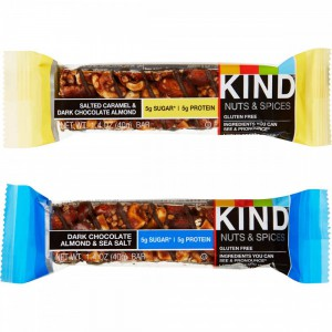 Barra de Nueces y Especias Kind, 20 Bars