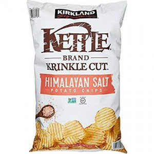 Kirkland Signature Krinkle Cut Kettle Chips, Himalayan Salt 907g