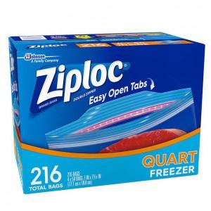 Bolsas Ziploc Quart Freezer