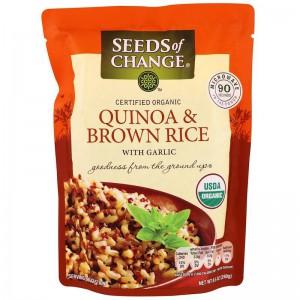 Arroz integral y quinoa con ajo Seeds of Change