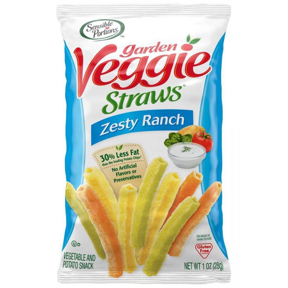 Snack Veggie Straws Zesty Ranch, Sensible Portions Unidad