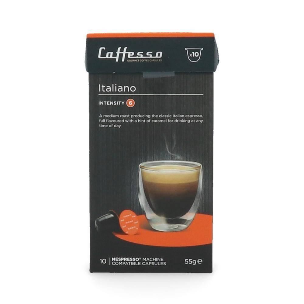 Cápsulas de Café para Máquinas Nespresso, Caffesso Italiano