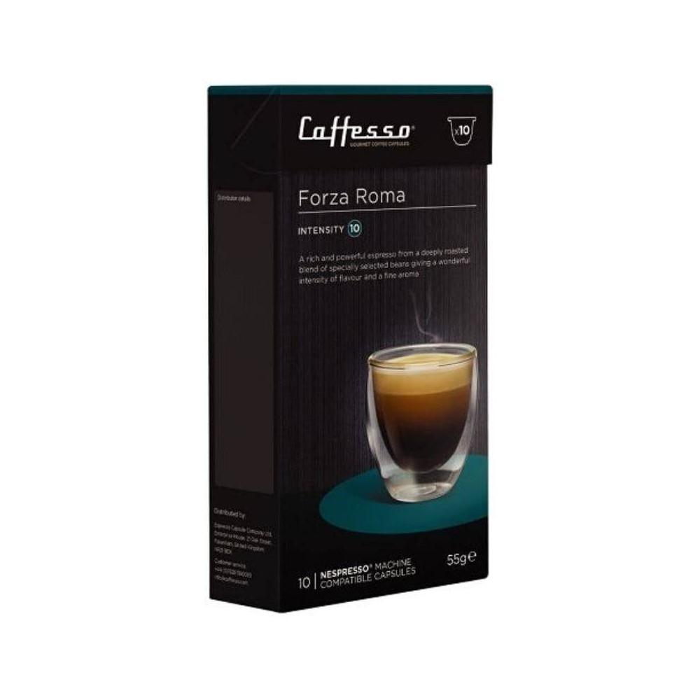 Capsulas de Café para Maquinas Nespresso, Caffesso Forza Roma