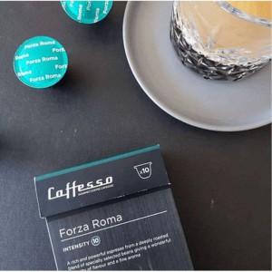 Cápsulas de Café para Máquinas Nespresso Caffesso Forza Roma