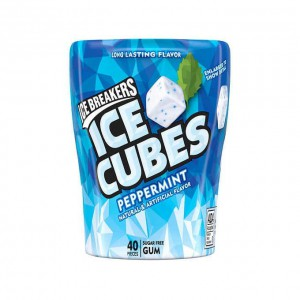 Ice Breakers Ice Cubes Sugar Free Gum, Peppermint, 40 Pieces