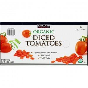 Kirkland Signature Organic Diced Tomatoes, 8*411g