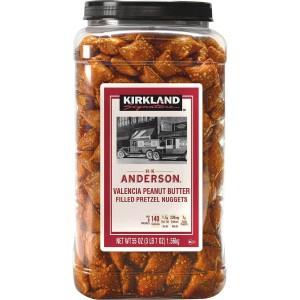 Trozos de Pretzels Rellenos de Peanut Butter, Kirkland Signature 1.56 Kg