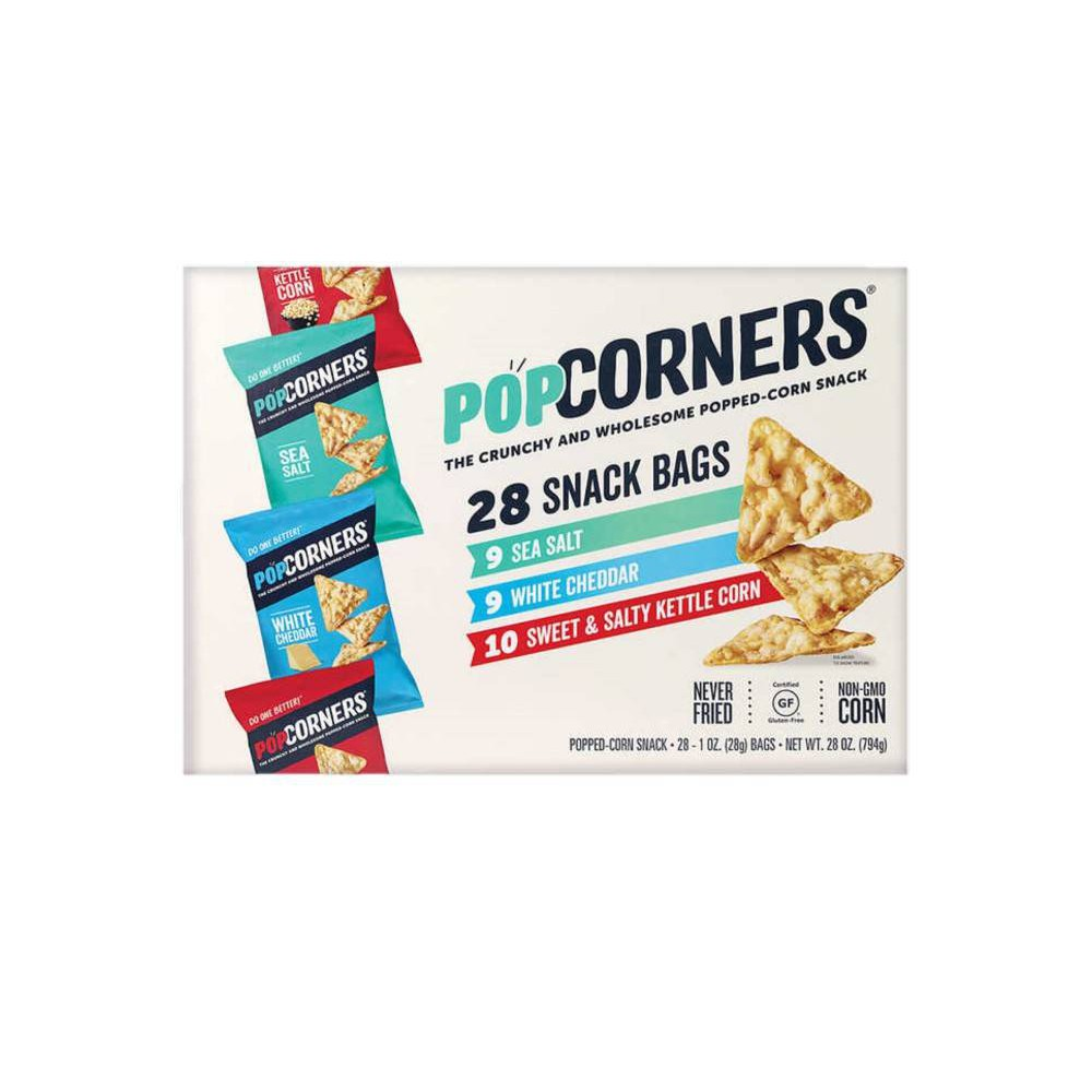 PopCorners Popped-Corn Snack, Variedades 28 ct