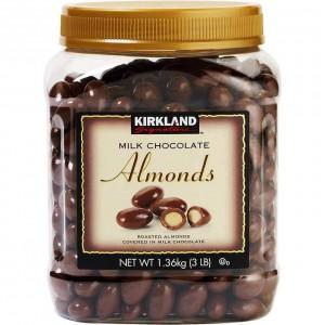 Almendras Cubiertas de Chocolate Kirkland