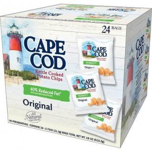 Cape Cod Kettle Cooked Potato Chips, Original 24*28g