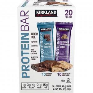 Barras de Proteina KS sabor galletas y brownie de chocolate