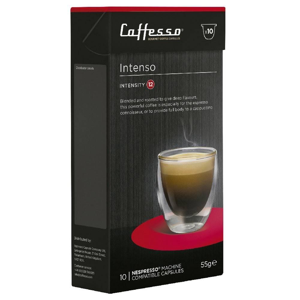 Capsulas de Café para Maquinas Nespresso, Caffesso Intenso