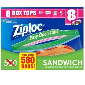 Bolsas Ziploc Sandwich Caja 4 uni