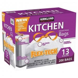 Bolsas plásticas para cocina Kirkland Signature.