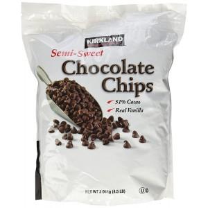 Chips Chocolate Semi Dulce con Vainilla Kirkland