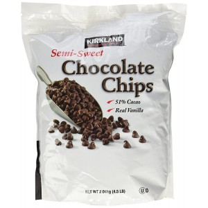 Chips de Chocolate Semi Dulces con Vainilla Kirkland Signature 2.04 Kg